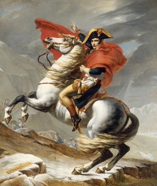 J. L. David, Napoleon crossing the Alps, 1801, Vienna, Österreichische Galerie Belvedere.